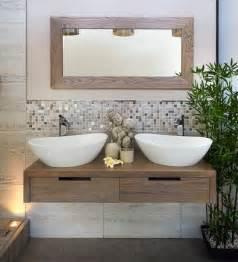 bad landhausstil fliesen badezimmer trend 2014 naturmaterialien holz pflanzen bad trends waschbecken und