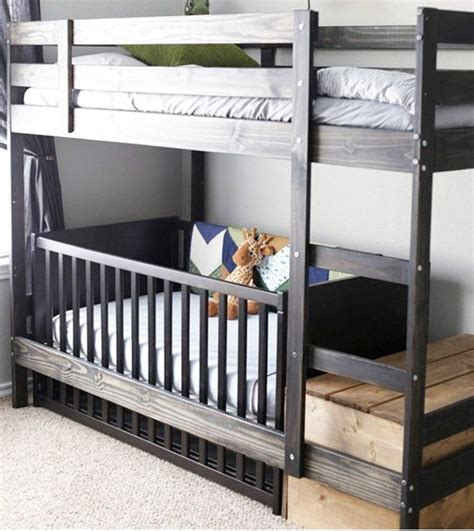bunk bed with crib underneath 25 best ideas about ikea crib on ikea co