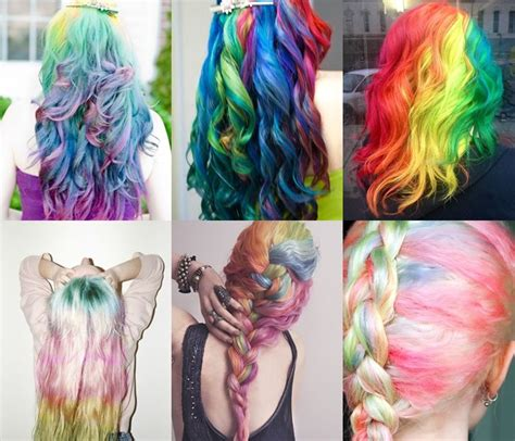 rainbow ombre hairstyles pictures   images