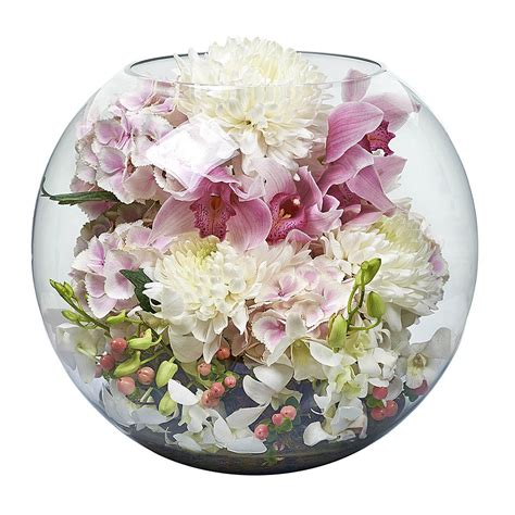 Bowl Vase by Large Fish Bowl Includes Vase Bloomd Florist