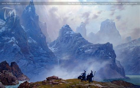 the blue wizards journeying east ted nasmith