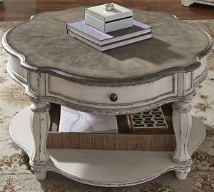 magnolia manor antique white round cocktail table from With antique white round coffee table
