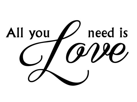 """Muursticker """"all You Need Is Love"""""""