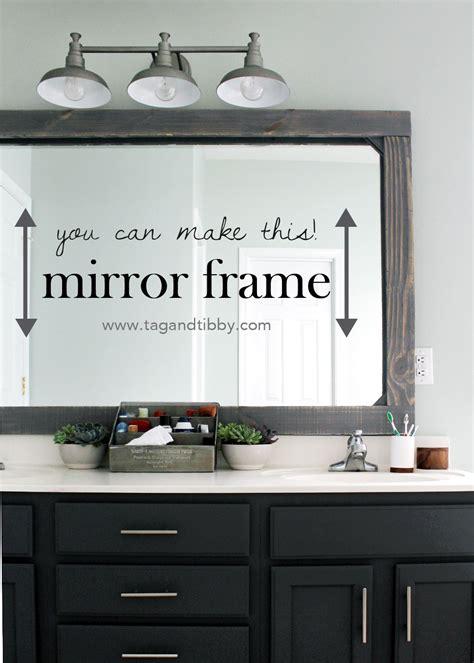 Framing Existing Bathroom Mirrors by Diy Rustic Wood Mirror Frame In 2019 Best Diy