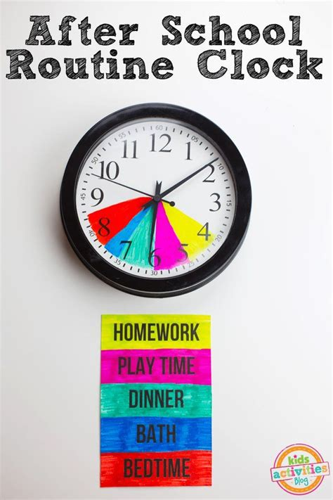 toddler clock after school routine clock diy for parents school