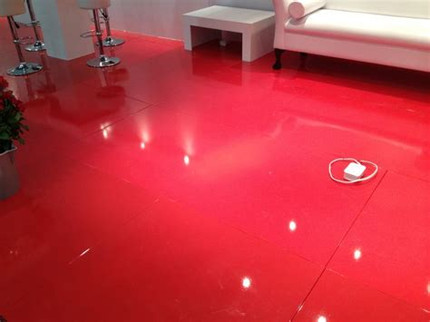 bright gloss floor at expo colourful flooring