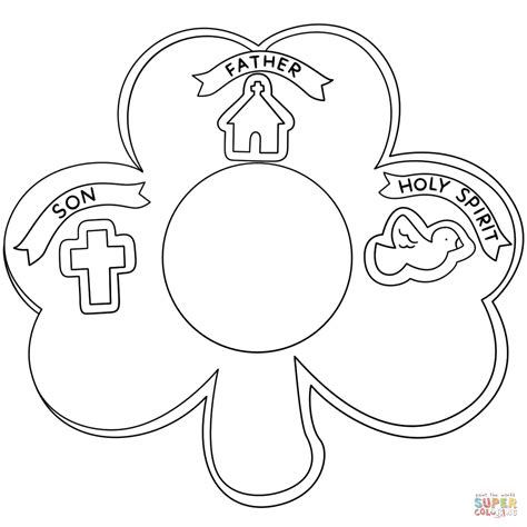 Then hang them on your fridge so it doesn't get pinched! Shamrock Holy Trinity coloring page | Free Printable ...