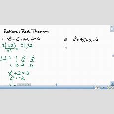 Rational Root Theorem Youtube