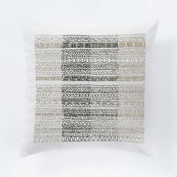 Beaded Ombre Pillow Cover Pottery Barn Living Room by Beaded Ombre Stripe Pillow Cover White West Elm