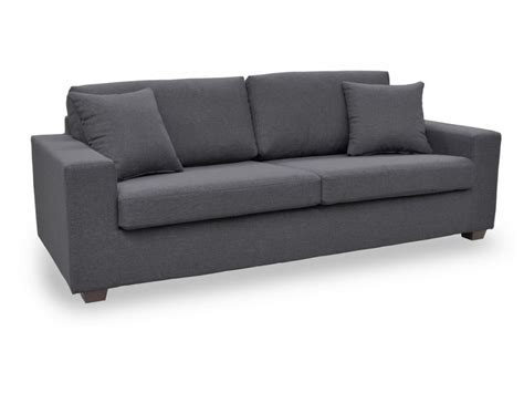 canap fauteuil canapé et fauteuil en tissu gris noir yudo