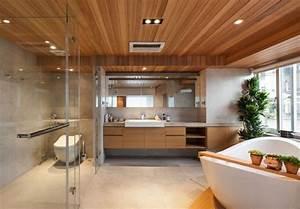 Zwischendecke Aus Holz : modernes badezimmer mit holzdecke und h ngeschrank aus holz decke pinterest ~ Sanjose-hotels-ca.com Haus und Dekorationen