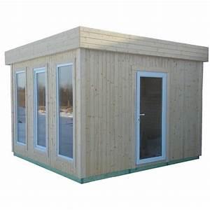 bureau de jardin de 1079m2 en bois massif 19mm cube With bureau de jardin en bois