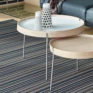 Table Basse Ronde Gigogne : table basse gigogne table de salon en verre maison boncolac ~ Teatrodelosmanantiales.com Idées de Décoration