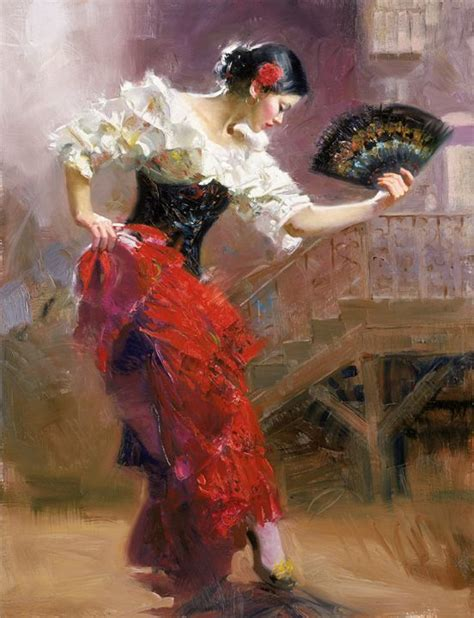 flamenco painting partage of bev murphy