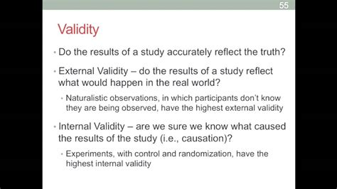 research review  internal  external validity summary  research methods youtube