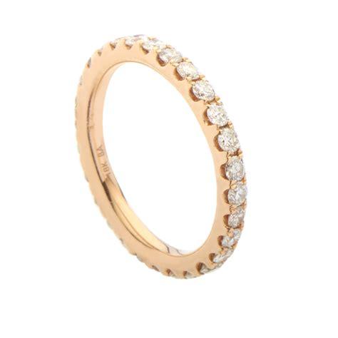 Women's 18k Rose Gold Diamond Eternity Band Ring