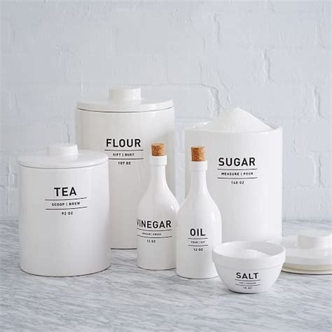 White Ceramic Kitchen Canisters by Best 25 Sugar Canister Ideas On Flour