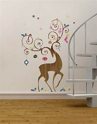 perfect christmas wall decals Ornamental Reindeer Giant Holiday Wall Decals
