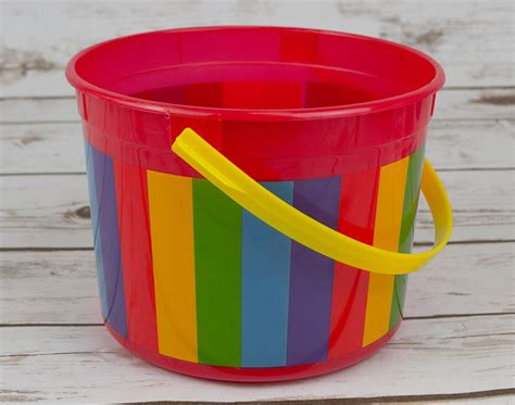 easter egg hunt single plastic bucket choice  colours