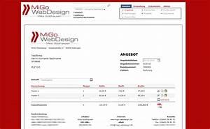 Rechnung Fußzeile : migo webdesign produkte ~ Themetempest.com Abrechnung