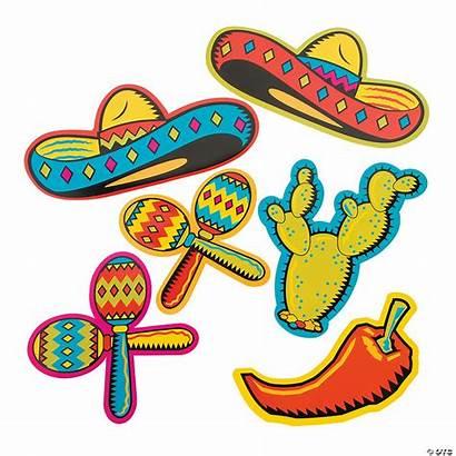 Fiesta Cutouts Mexican Decorations Theme Cinco Mayo