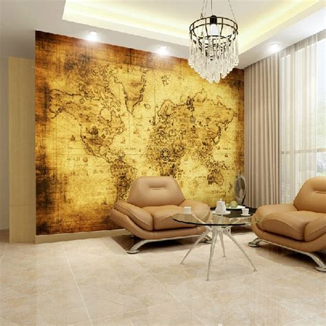 Vintage Map Living Room by Living Room Wall Decor 10 Vintage Lifestyle Posters