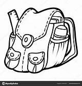 Coloring Backpack Depositphotos Ksenya Savva sketch template