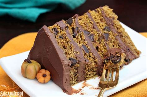 chocolate pumpkin cake pumpkin chocolate chip cake sugarhero