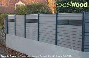 Panneau Composite Aluminium : panneaux de cloture en composite oc wood persiennes ~ Edinachiropracticcenter.com Idées de Décoration