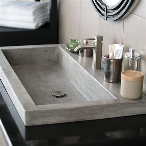 native trails trough stone rectangular drop  bathroom