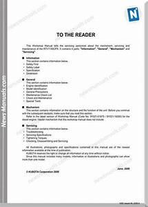 Kubota Serie Rtv1140cpx Anglais Workshop Manual