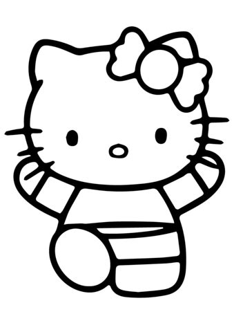 Hello Kitty Doing Gymnastics coloring page Free