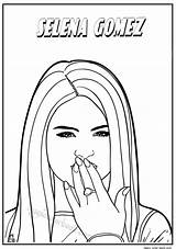 Coloring Pages Famous Selena Gomez Drawing Getcolorings Printable Print Step Colorings Getdrawings sketch template