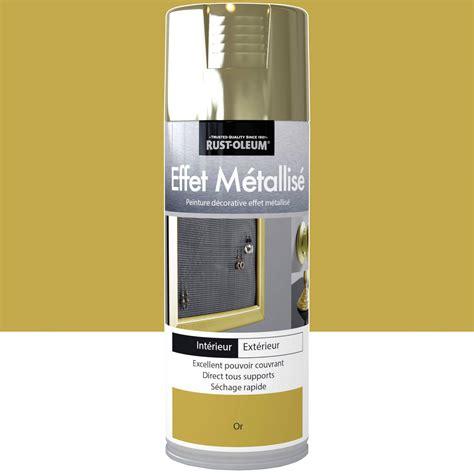 peinture a 233 rosol effet metallis 233 m 233 tallis 233 rustoleum or 0 4 l leroy merlin