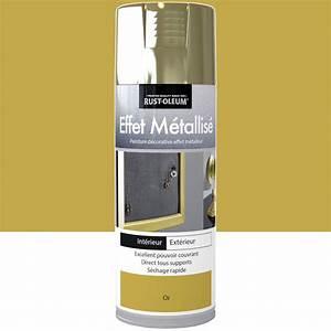 Peinture A Effet Metal : peinture a rosol effet metallis m tallis rustoleum or ~ Dailycaller-alerts.com Idées de Décoration
