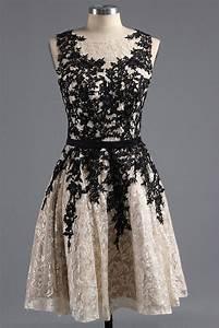 Black lace round neck simple short dress,short formal ...