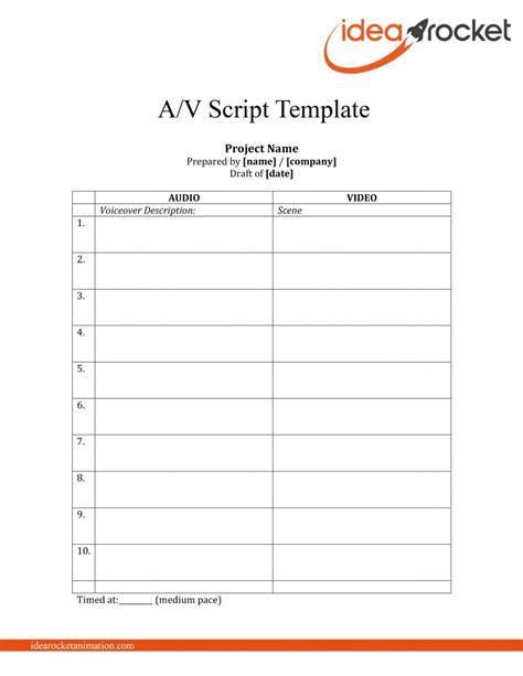 script template this script free template idearocket