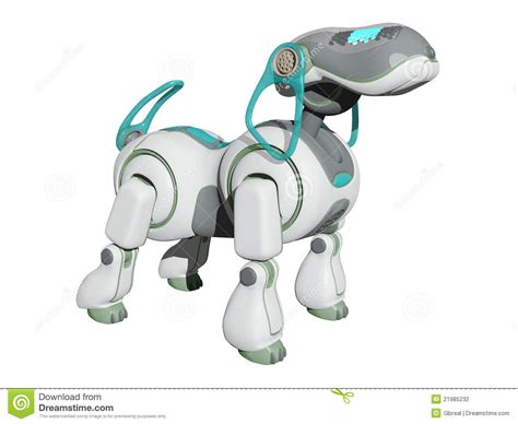 Robot Dog On The Watch Stock Illustration. Image Of