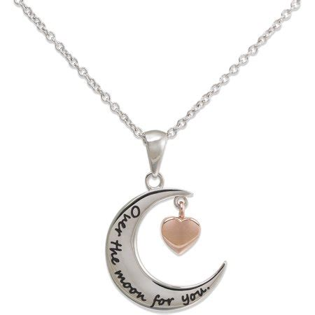 connections from hallmark stainless steel two tone crescent shaped the moon for you