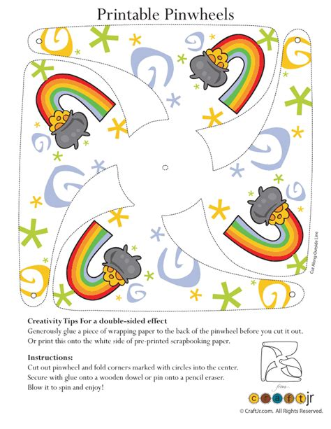 free pattern printables pot of gold pinwheel craft woo jr kids activities