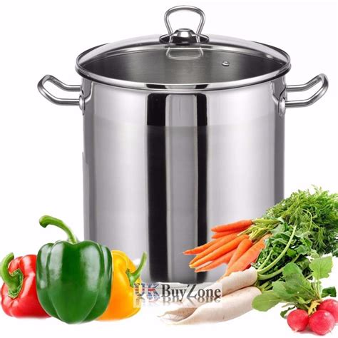 pots cuisine large stainless steel cooking stock pot casserole