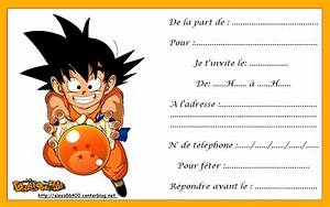 invitation anniversaire dragon ball z images ebookzdbcom With dragon ball z wedding invitations