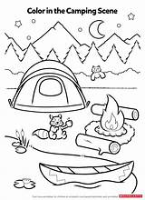 Coloring Pages Activity Camping Worksheets Printables Campfire Activities Preschool Theme Worksheet Scholastic Smores Fun Crafts Printable Sheets Sheet Kindergarten Campsite sketch template