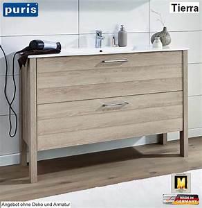 Waschtisch Set 120 Cm : puris tierra waschtisch set 120 cm breite mit 2 ausz gen waschtisch w hlbar stehende ~ Bigdaddyawards.com Haus und Dekorationen
