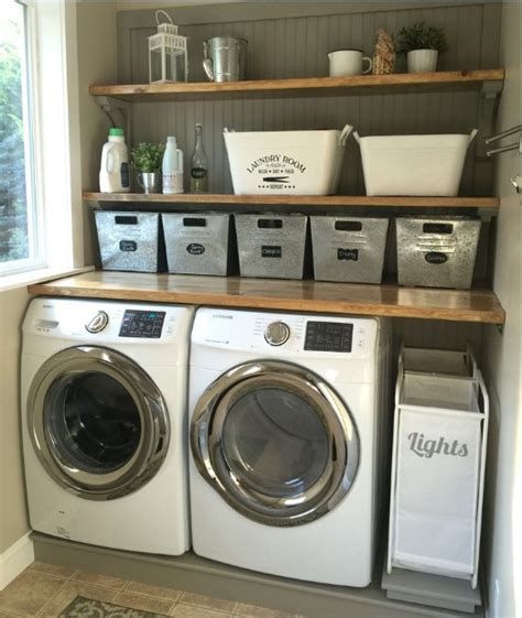 Inexpensive Laundry Room Makeovers With Diy Wood Plank