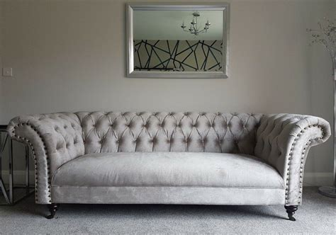 new settee brand new style chesterfield velvet fabric curved