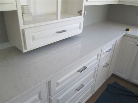 frosty carrina quartz countertops traditional kitchen
