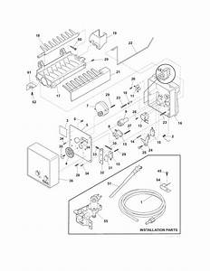 Ice Maker Diagram  U0026 Parts List For Model Frt18il6jw4 Frigidaire