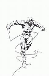 Daredevil Coloring David Finch Malvin Drawings Williams Scott Library Clipart Coloringhome sketch template