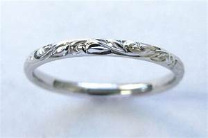 hand engraved vine and leaf wedding anniversary band With vine wedding ring
